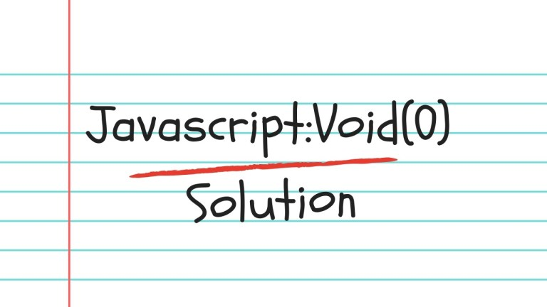 How to Fix Javascript:Void(0) Error in Google Chrome 1